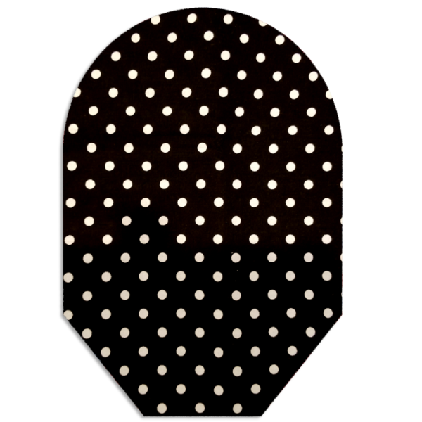 Black and White Polka Dots closed white bg