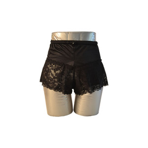Black Lace Boyshorts
