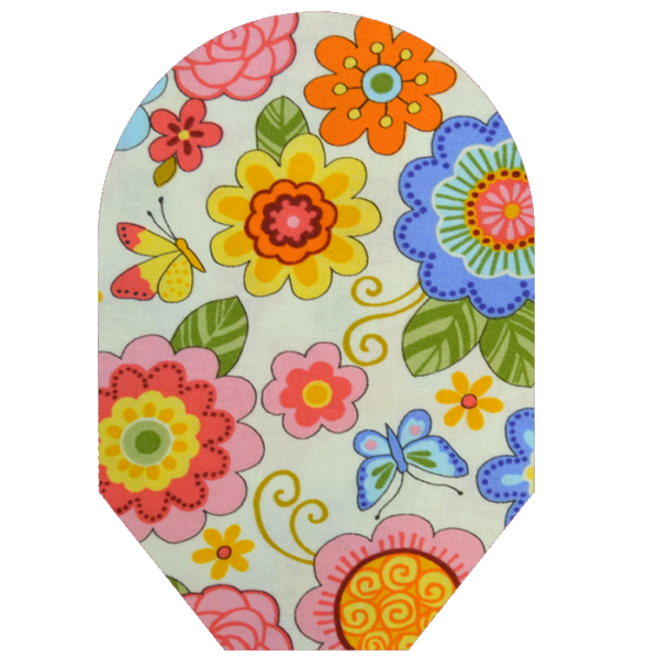 Women's print floral white background