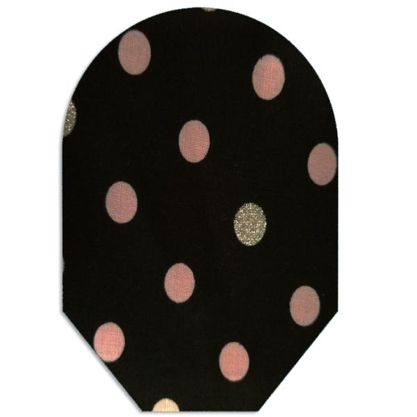 clearance – black pink silver polka dots