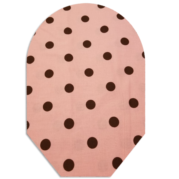 Pink & Brown Polka Dots closed white bg