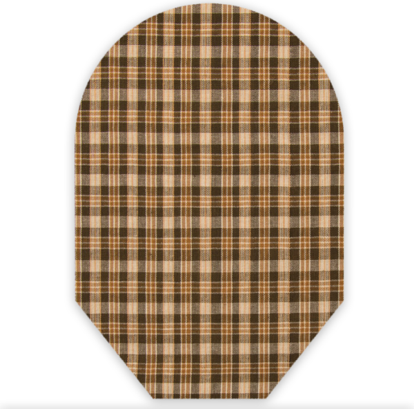 BROWN PLAID CLOSED END
