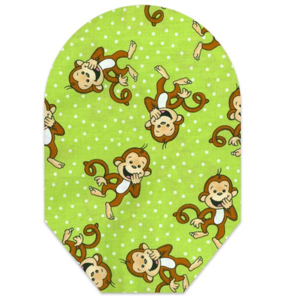 girls green monkeys closed end