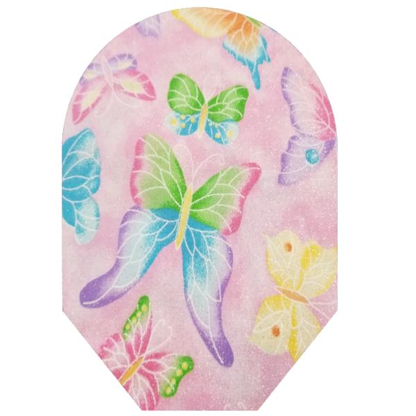 girls pink butterflies
