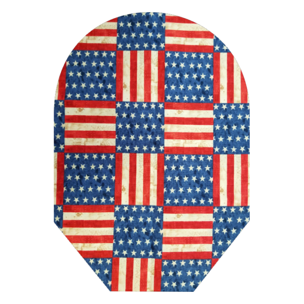 red,white,blue with white background