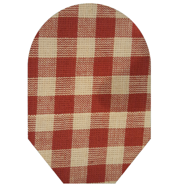 Red Plaid white background