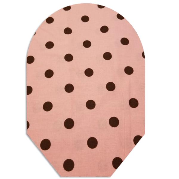 Pink & Brown Polka Dots closed white bg